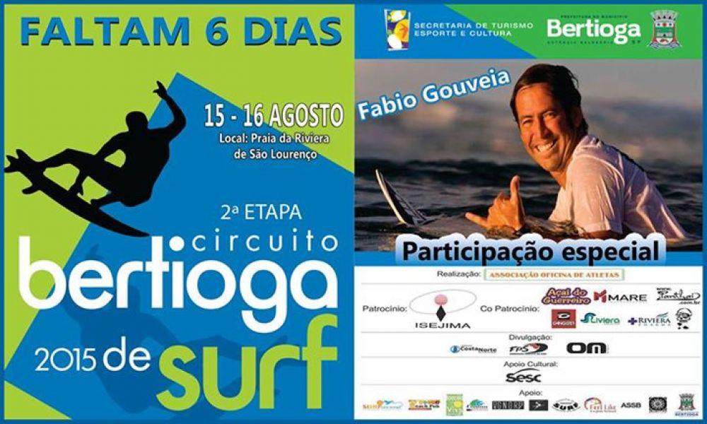 Cidade vai sediar a 2ª etapa do Circuito Bertioga 2015 de Surf